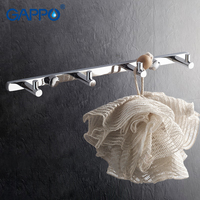 GAPPO 1 Set High Quality 4 Hooks Wall Mount Coat Hat Tower Holder Stainless Steel Solid