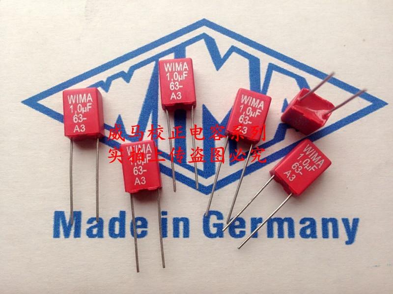 2019 Hot Sale 10pcs/20pcs Germany WIMA 63V 1.0UF 1UK 63V 105 1UF P: 5mm Audio Capacitor Free Shipping