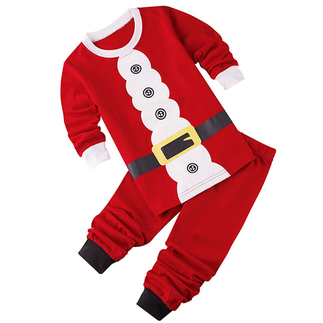 04ea564149a5 New Year Christmas Children Cosplay Santa Claus Sets Clothes Holiday  Costumes for Boys Girls Toddler Kids Festive Clothing