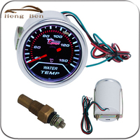 HB 2 Inch Auto Water Thermometer Gauge White Luminous Car Modification Special Water Temp Gauge