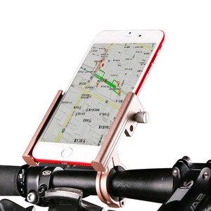 Велосипедный мобильный телефон с зажимом из алюминиевого сплава держатель с зажимом для сотового телефона 6,8 дюйма нескользящий Сверхлегк...