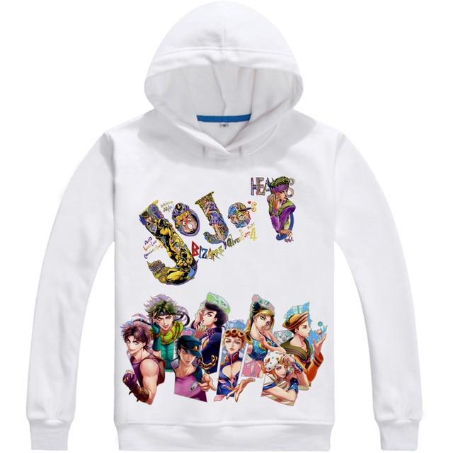 Kujo Jotaro Star Platinum Mens Hoodies JoJo's Bizarre Adventure Men Sweatshirt Streetwear Anime Hoodie Printed Long Hooded 3