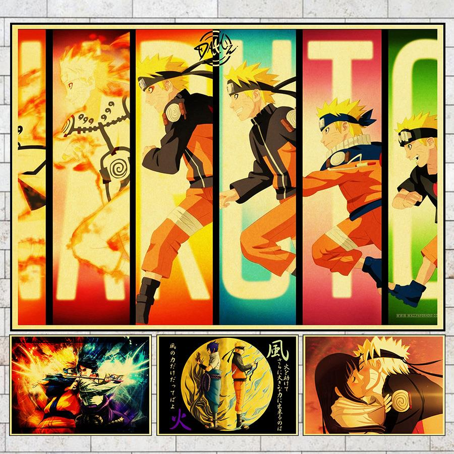 Naruto Akira Organization Lineup Handsome Wall Decoration Painting ...