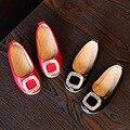 2016 Fashion Princess Girls Shoes Rhinestone Design Round Toe Children Flats Red Black Children Shoes Spring Autumn Summer