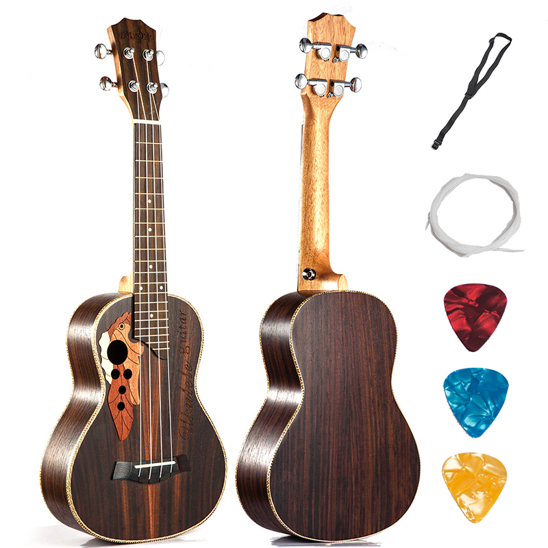 Concert Tenor Ukulele 23 26 Inch Hawaiian Guitar 4 Strings Ukelele Guitarra Handcraft RoseWood Uke Musical Instruments 26 inchtenor ukulele guitar handcraft made of mahogany samll stringed guitarra ukelele hawaii uke musical instrument free bag