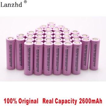 100% original 18650 3.7 v 2600 mah bateria recarregável de íon de lítio 18650 para samsung baterias para brinquedos ferramentas lanterna (10-40pcs) 1