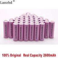 100% original 18650 3.7V 2600MAH Li ion rechargeable 18650 battery for samsung batteries For toys tools flashlight(10 40pcs)