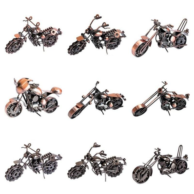 12 スタイルレトロなオートバイモデル鉄作るヴィンテージバイク絶妙な金属像ボーイギフト用/オフィス装飾クラフト -