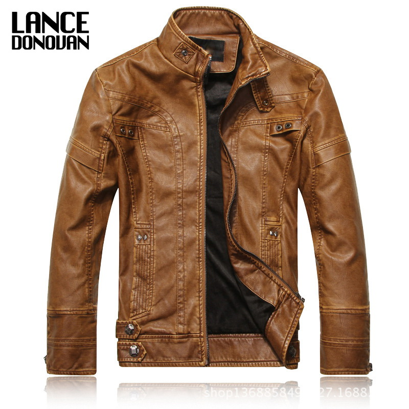Plus Velvet Chinese Brand Motorcycle PU Leather Jackets Men 2016 New arrived Autumn Winter Business casual fashion coats