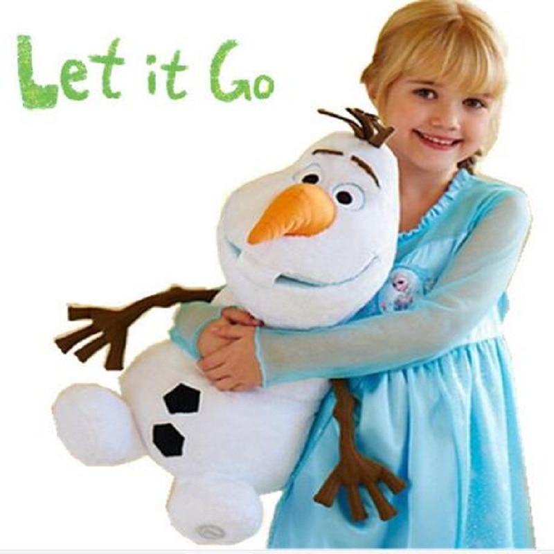 Olaf brinquedo de pelúcia bonito boneco de neve dos desenhos animados boneca de pelúcia princesa elsa anna brinquedo de pelúcia macio recheado brinquedos juguetes presente para crianças