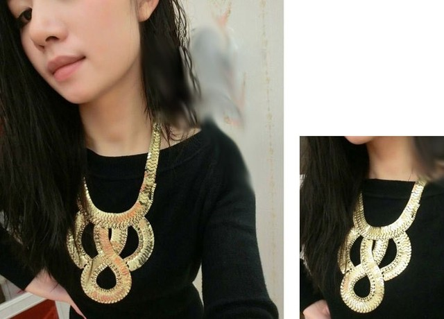 NEW ARRIVAL Exaggerated fashion PUNK flat chain choker necklace for party
