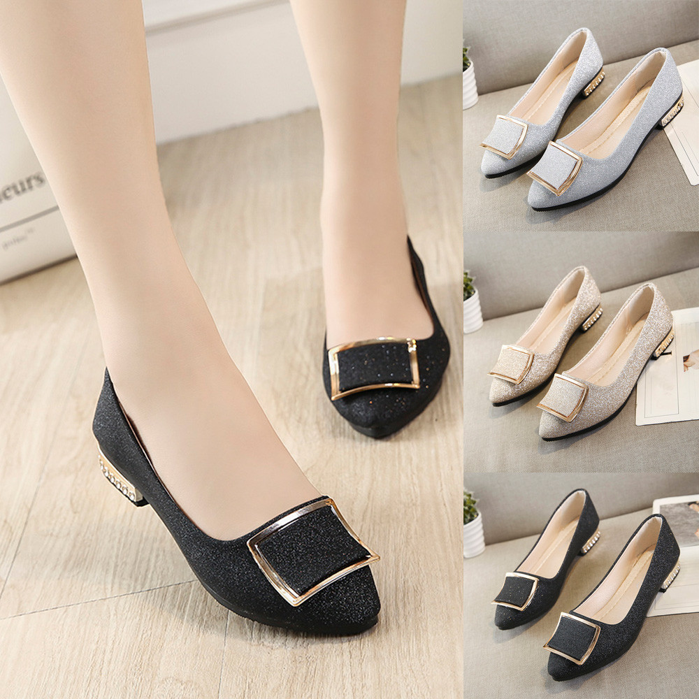 Women Flats Loafers Comfortable Candy-Color Square Casual Fashion Sweet Shallow -T10g