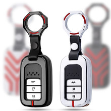 купить Zinc Alloy car key case cover for honda Civic 2017 2018 accord 9 crider city  Vezel Spirior Odyssey Jazz HRV CRV Fit Freed Jade дешево