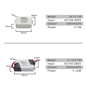 Image 3 - 220V LED Driver Constant Current 300mA 240mA Output 1 50W Power Supply External Lighting Transformer For LED Ceiling Light