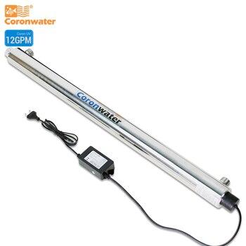 Sistema de desinfección con esterilizador UV de 12 GPM de Coronwater SS304 CE, RoHS para SEV-5925L de purificación de agua