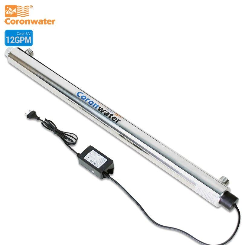 Système de désinfection UV de stérilisateur de Coronwater SS304 12 GPM CE, RoHS pour le SEV-5925L de Purification de l'eau