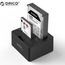 ORICO Podwójny Zatoki SATA do USB 3.0 External Hard Drive Stacja Dokująca dla 2.5/3.5HDD z Powielacz/Klon funkcja-Czarny
