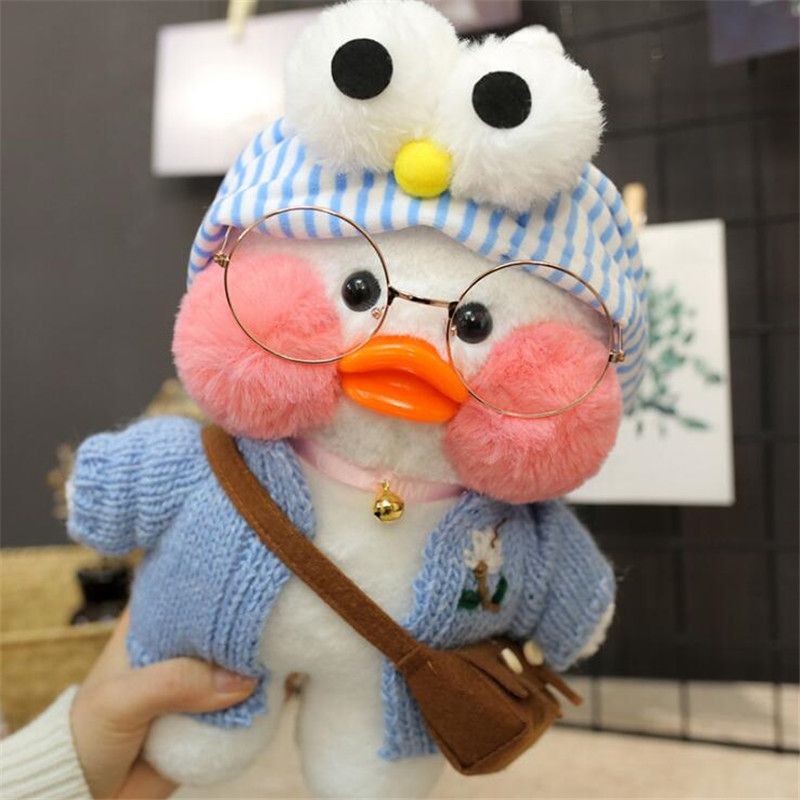 30cm White LaLafanfan Cafe Duck Plush Toy Cartoon Cute Duck Stuffed Doll Soft Animal Dolls Kids Toys Birthday Gift For Children