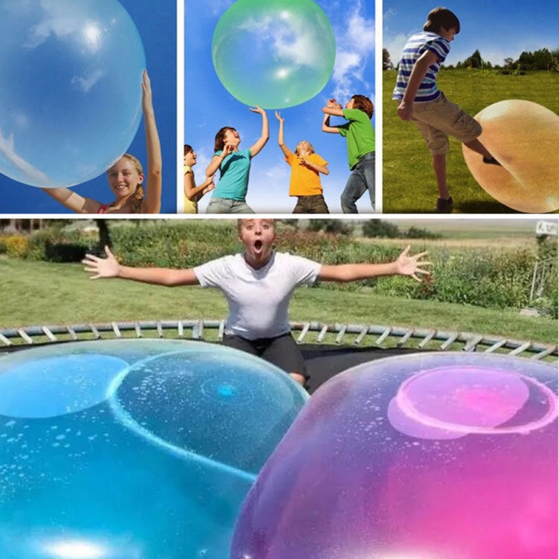 Balloon Funny Toy Balls Kid Transparent Bounce Round Balloons For Decorations For Children's Outdoor Activities Random Color