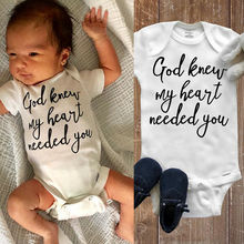 Summer Baby Bodysuit Boys Girls Clothes I Love You To The Letter White Newborn Playsuits Cute Outfits Bodysuits 0-18M