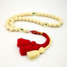 Eid gift tasbih muslim Rosary mens ivory simulated 33 66 99 insect prayer beads Cotton tassel special islamic bracelet turkey fashion