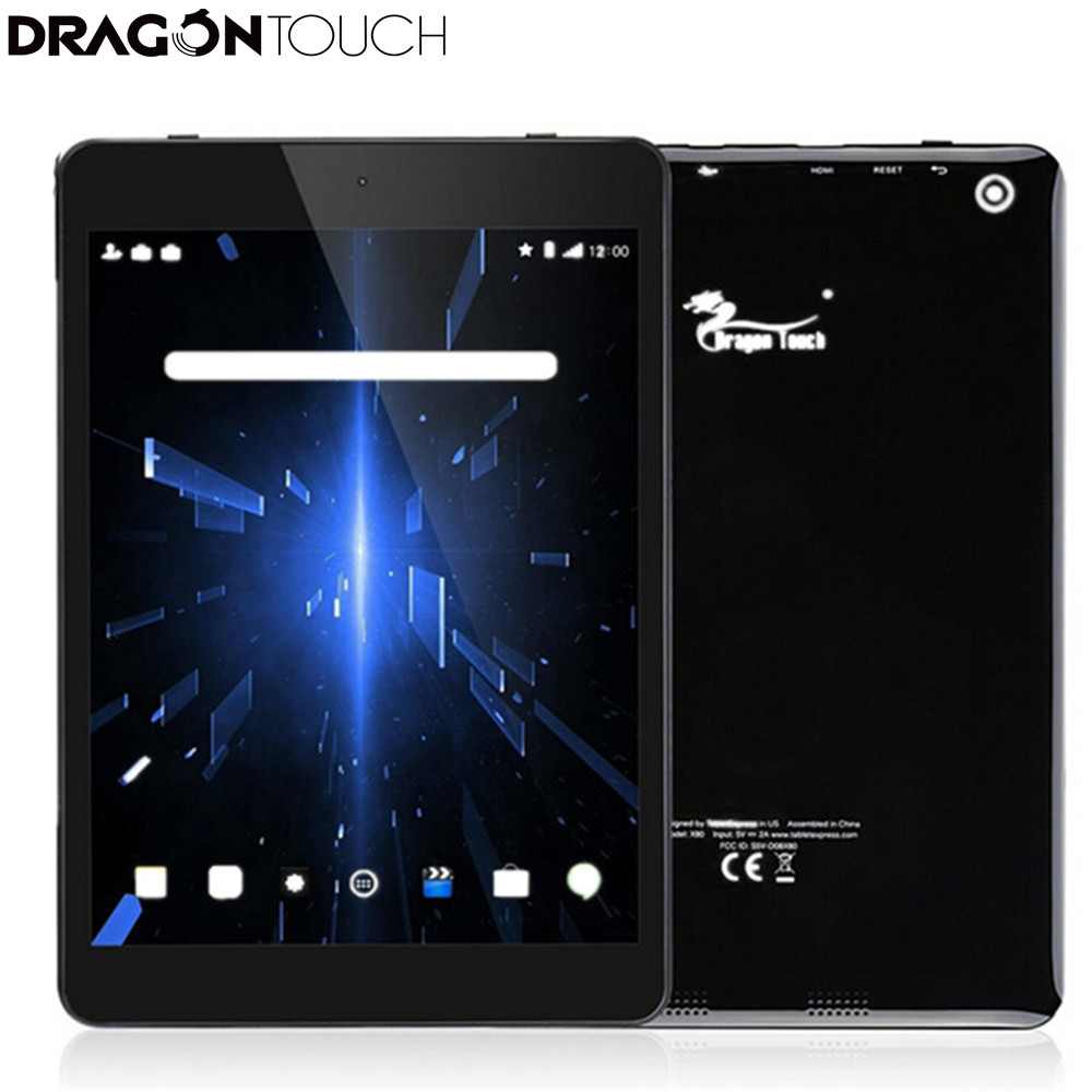2017 New DragonTouch X80 8 inch 32GB Quad Core Tablet with Android 6.0 Marshmallow, 1024x768 IPS Display, Bluetooth, mini HDMI