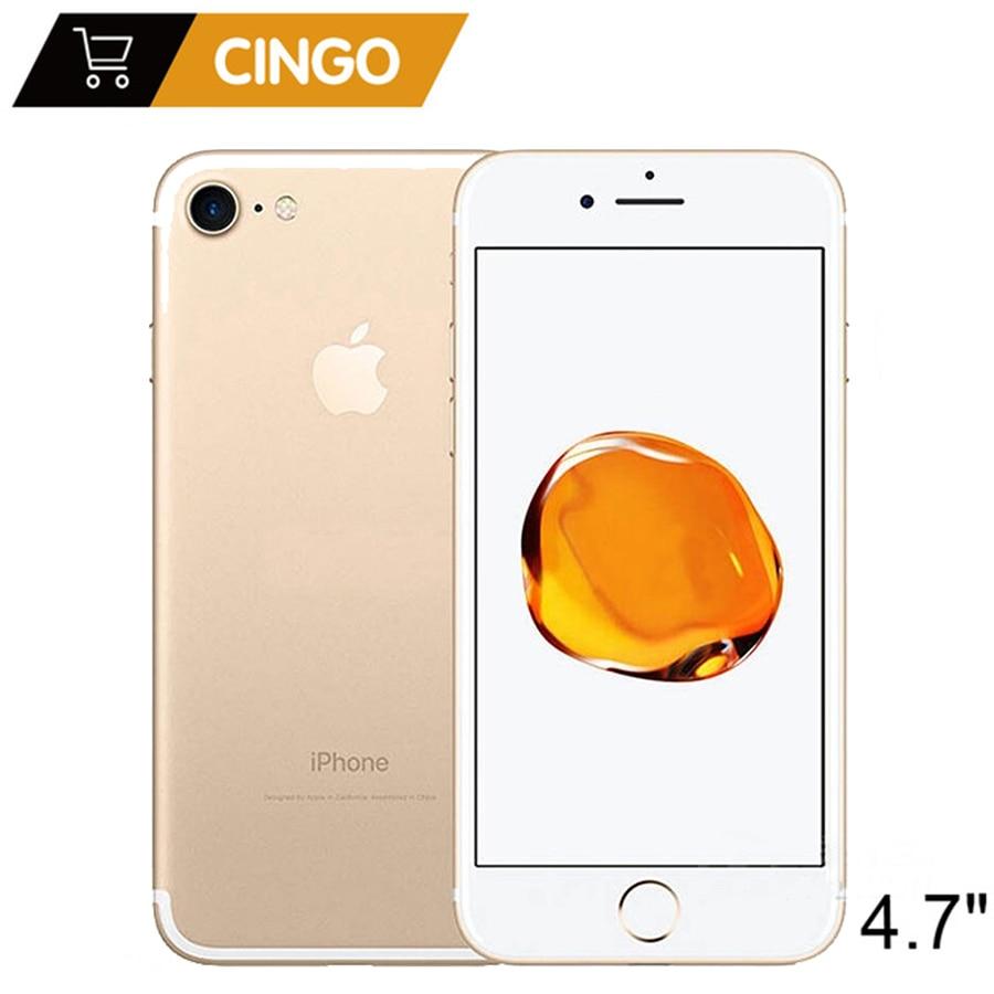 Apple iphone 7 4G LTE Mobile téléphone IOS Quad Core 2 GB RAM 32/128 GB/256 GO ROM 12.0MP D'empreintes Digitales débloqué Original iphone 7