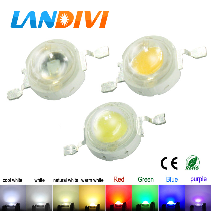 Led Diode 1W 3W High Power LED Chip white Green Blue Yellow Deep Red 660nm UV LED Lamps Bulb Light chips Emitting Diode Led Chip high power led 1w 3w bulbs 30mli 45mli 1w 3w led chip rgb white warm white nature white red green blue light source