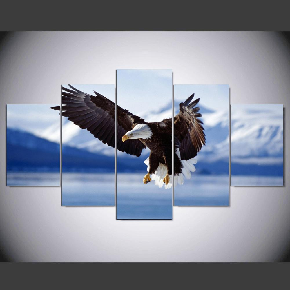 online get cheap alaska wall art aliexpress com alibaba group wall art painting bald eagle in flight to alaska pictures prints on canvas animal the picture decor oil for home decor im 115