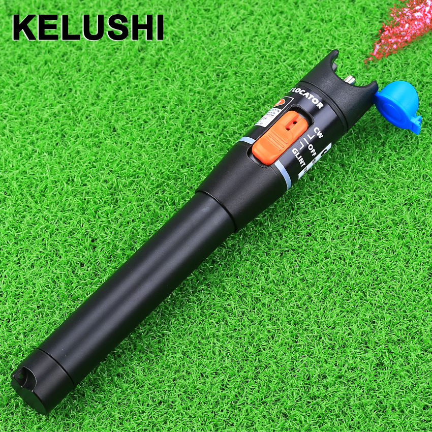 KELUSHI Red Laser Light 650nm 10mW 5-8km Visual Fault Locator VFL Fiber Optic Cable Tester Checker Meter