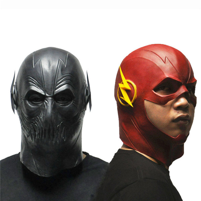 Takerlama The Flash Reverse-Flash ZOOM Mask Movie Figures Cosplay Props Halloween Full Face Latex  sc 1 st  AliExpress.com & Takerlama The Flash Reverse Flash ZOOM Mask Movie Figures Cosplay ...