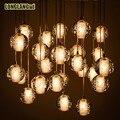 26 luz modern led de cristal pingente luzes luminárias para sala de jantar sala Bola Mágica Da Escada do Sotão Pingente de Luz chuva de Meteoros Chuva lâmpada