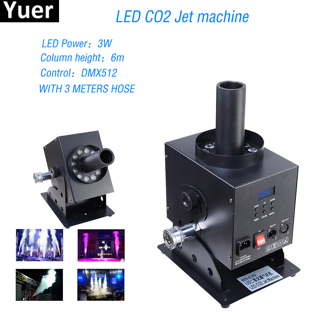 цена на Professional DJ Equipment DMX 512 Stage Co2 Jet Machine Dry ice Fog Effect,CO2 Smoke Machines Special Effects Cannon For Disco