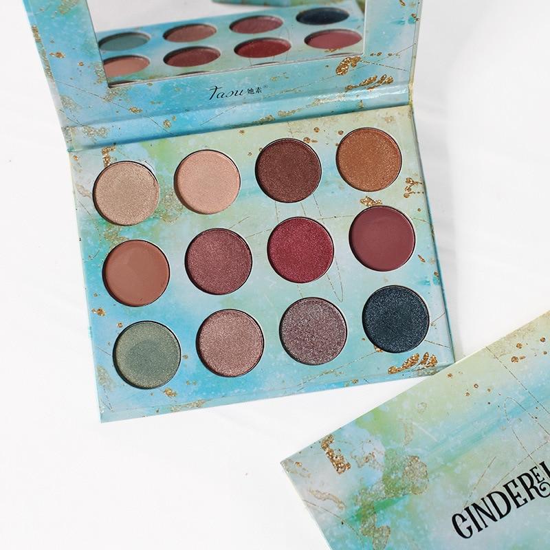 12 Colors Eyeshadow Palette Shimmer Matte Glitter Makeup Eyeshadow Pallete Pigment Smoky EyeShadow Palette Cosmestic Eye Palette