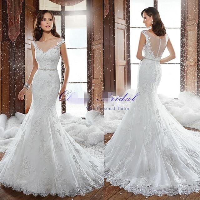 2015 Lace Mermaid Wedding Dresses