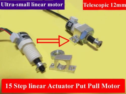 Mini linear actuator 15mm stepper put pull motor electric for Miniature stepper motors with linear actuation