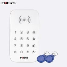 FUERS K07 Беспроводная RFID тег сенсорная клавиатура совместима с системой охранной сигнализации SMS Функция оповещения для G90B GSM сигнализация клавиатура