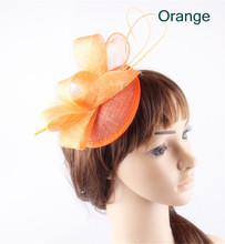 15colors elegant sinamay material fascinator wedding base headpiece birthday headwear cocktail hat suit for all season