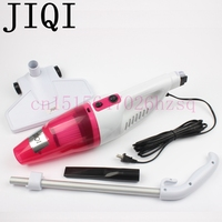 JIQI Mini Home Rod Handspike Handheld Vacuum Cleaners Portable Dust Collector Pink Blue