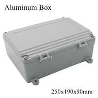 FA15 4 250x190x90mm Waterproof Aluminum Junction Box Electronic Terminal Sealed Diecast Metal Enclosure Case Connector Outdoor