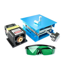 7W Laser Head Blue Light Module Diode For CNC DIY Engraving Cutting Machine 450nm Focus Power DC 12V with Protective Glasses