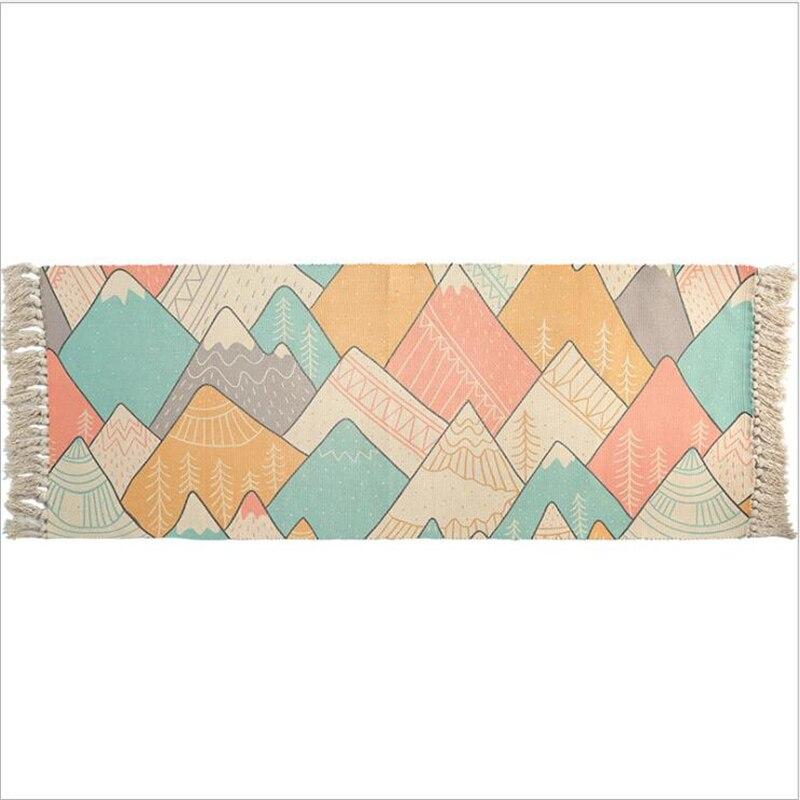 Tapis doux de chambre à coucher de coton délicat pour le salon tapis de Table de chambre d'enfant tapis de maison tapis de porte de plancher décorer tapis de zone de maison - 4