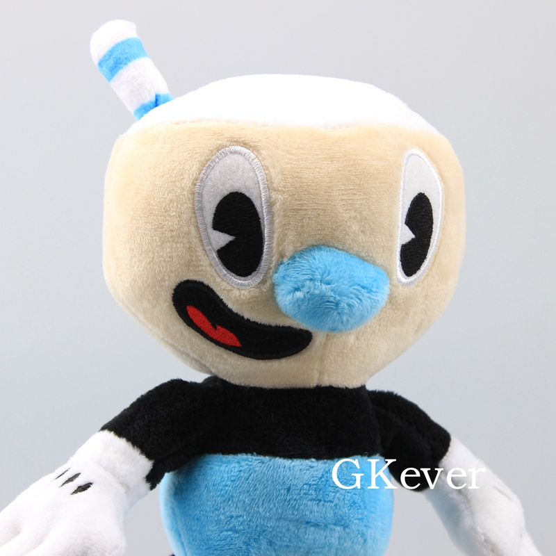 """10 Pcs/Lot Cuphead Game Figure Mugman Mecup And Brocup Plush Toy 9"""" 23 cm Children Gift 5"""