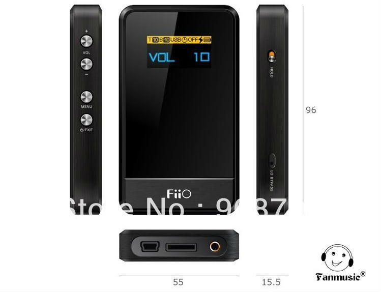 FiiO Andes E07K USB DAC tragbarer Kopfh/örer Verst/ärker Amplifier 3.5 mm Jack, Schwarz