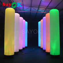 2m/3m attractive led air tube inflatable pillar for party and event stage lighting decoration for sale inflatable lighting star for party decoration