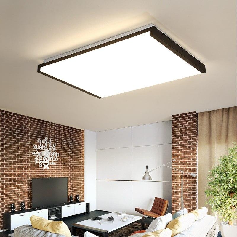 Creative Moderne Minimalisme haute luminosité LED Lustre Pour Chambre Salon Noir Plafond Lustre lampe Appareils
