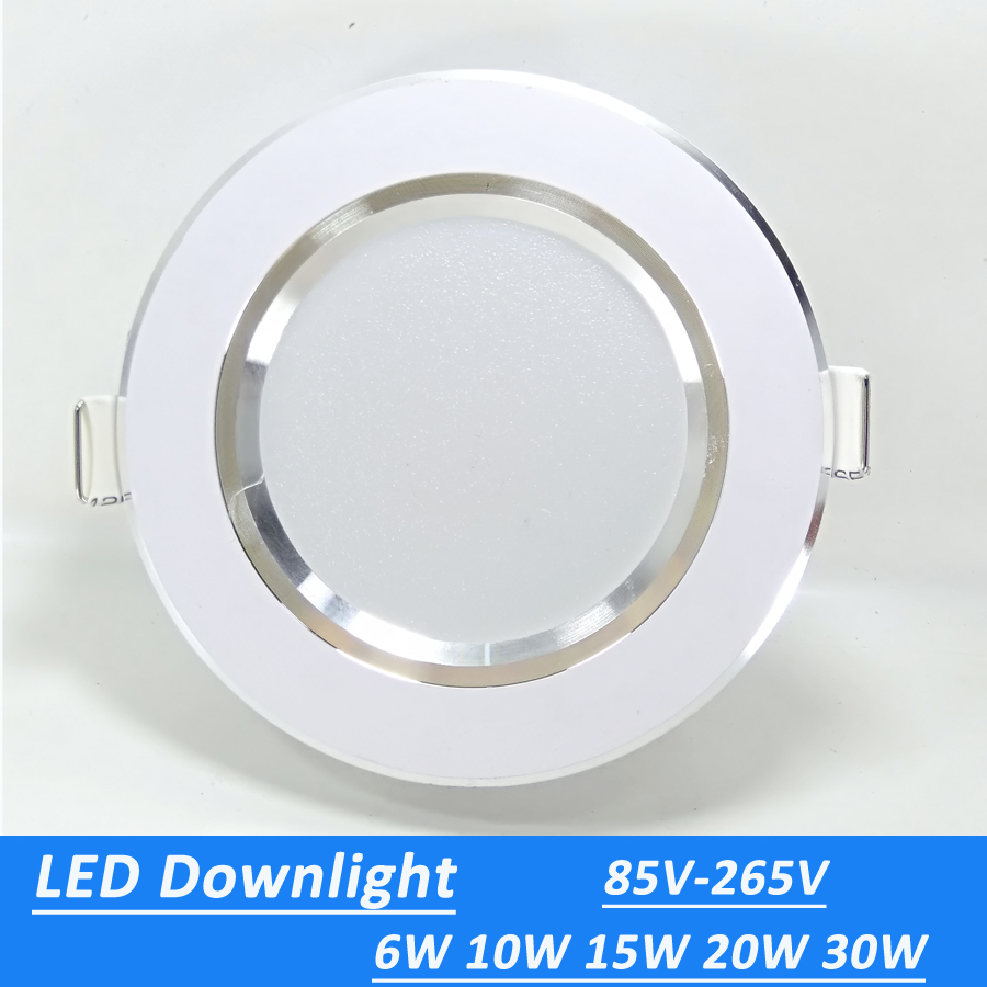 Led Downlights 6W 10W 15W 20W 30W 110V 220V LED Ceiling Downlight 2835 Lamps Led Ceiling Lamp Home Indoor Lighting Freeshipping(China)