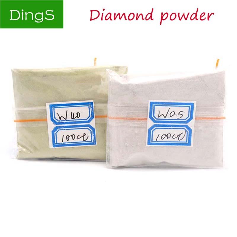 100 carats / 20g W0.5 to W40 Diamond Polishing Powder Micron Polishing Tools For Gemstone agate jade Ceramics Carbide