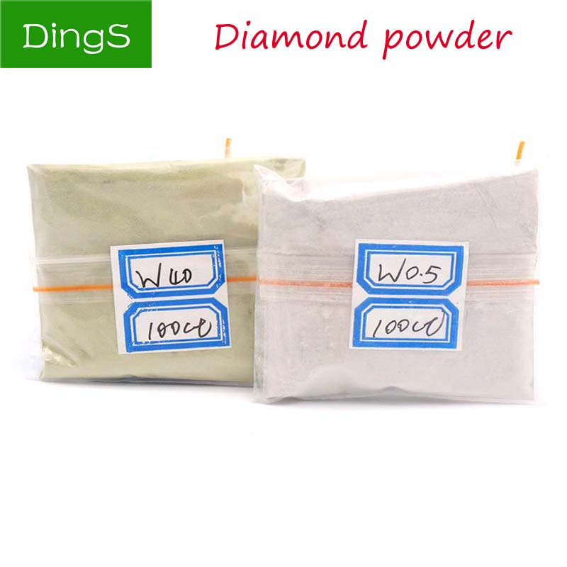 100 Carats / 20g W0.5 To W40 Diamond Polishing Powder Micron Polishing Tools For Gemstone Agate Jade Ceramics Carbide