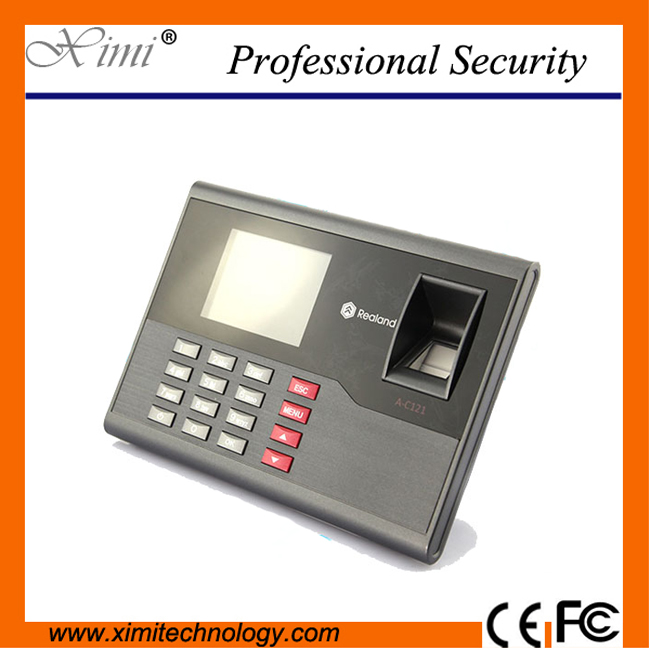 цена на Good quality USB fingerprint + password biometric time attendance 1500 fingerprint user TCP/IP employee time attendance